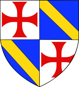 Coat of arms of Jacques de Molay as Grand Master of the Templars