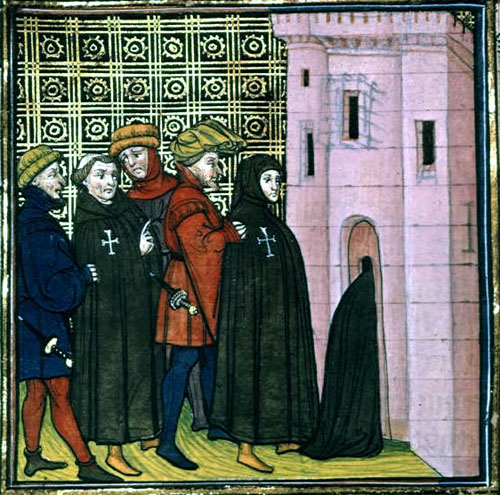 Fourteenth century image of the arrest of the Templars in 1309
