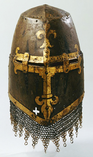 Medieval armour great helm heaume topfhelm 14th century iron germanisches nationalmuseum nuremberg malvernweather Images