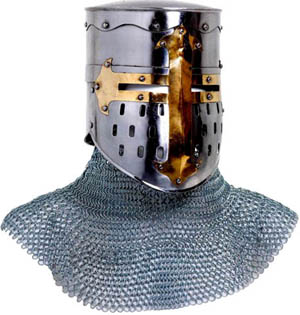 """Details about  /Medieval Knight Hauberk Chainmail 50/"""" Chest Butted Chain Mail Costume Armor"""