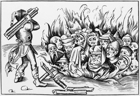 Men in pain tortured